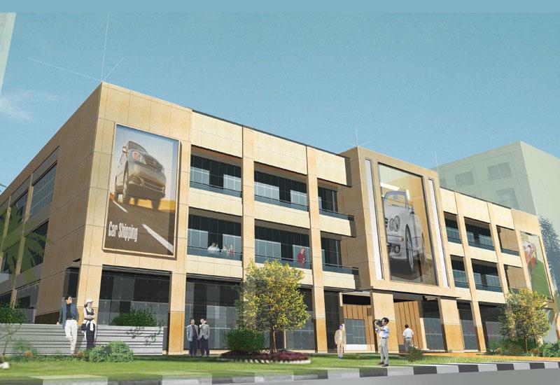 X Architects, Project:  Kojack Motor Showroom, Motorcity, Dubai.