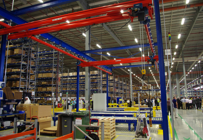 The warehouse will be staffed by 130 workers, and is also highly automated.