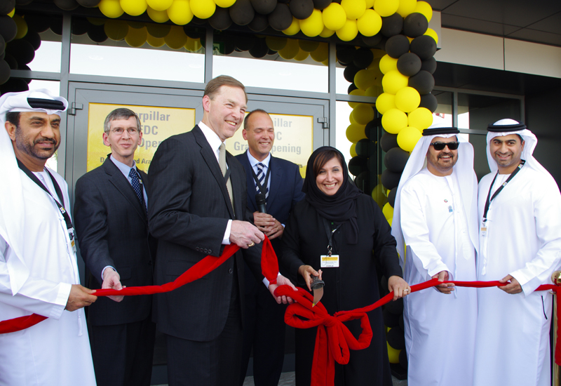 The ribbon was cut by Stu Levenick, Cat group president, and HE Salma Ali Saif Bin Hareb, CEO of Economic Zones World and Jafza.