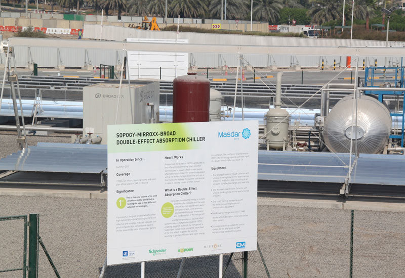 The absorption chiller plant at Masdar City