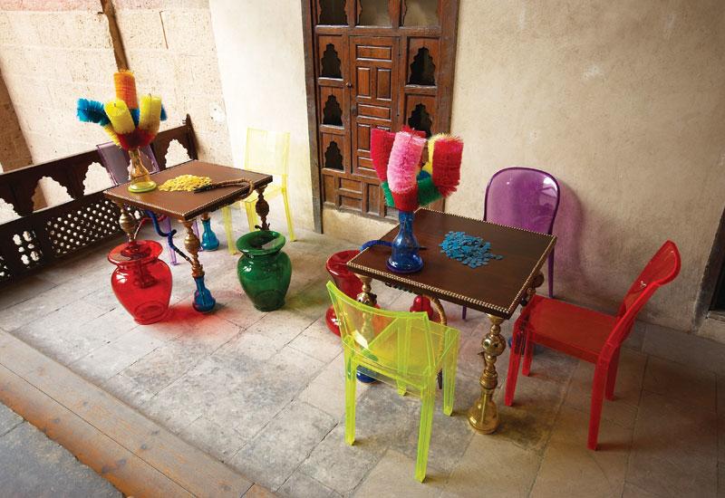 Dina Shoukry's shisha-inspired table.