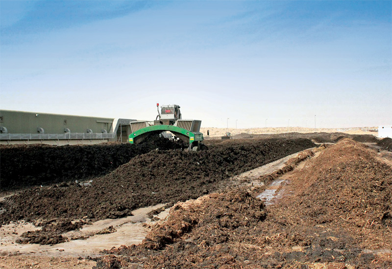 Bee'ah compost plant in Al Saj?ah for processing green and organic waste.