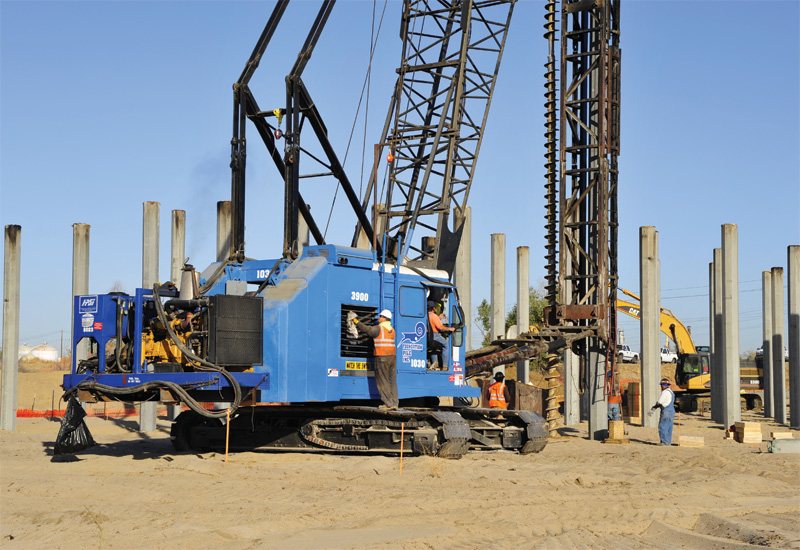 An example of a typical piling-rig operation underway.