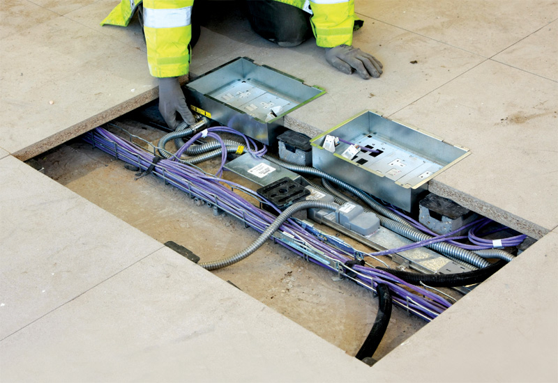 MT32 can deliver a complete electrical wiring installation.