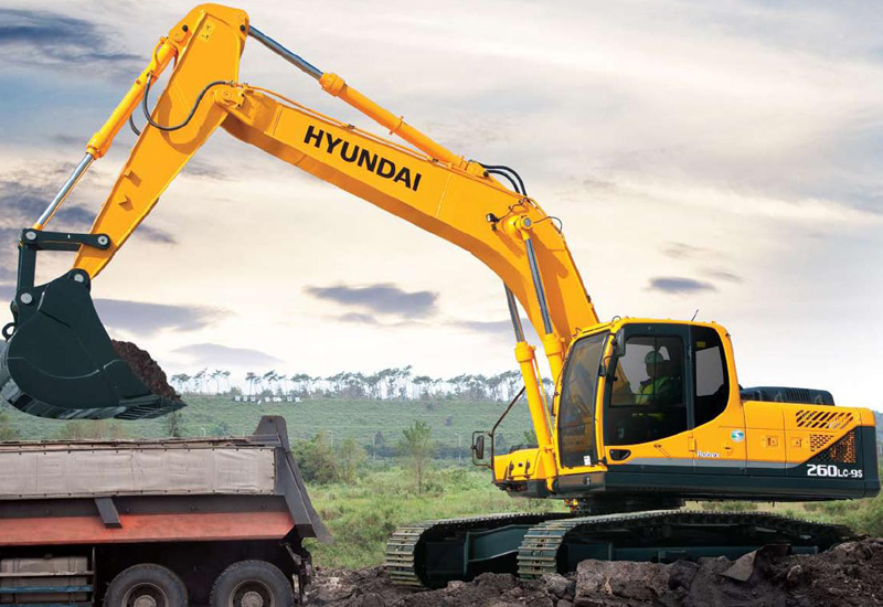 Hyundai 9S series excavators are popular in the Middle East.