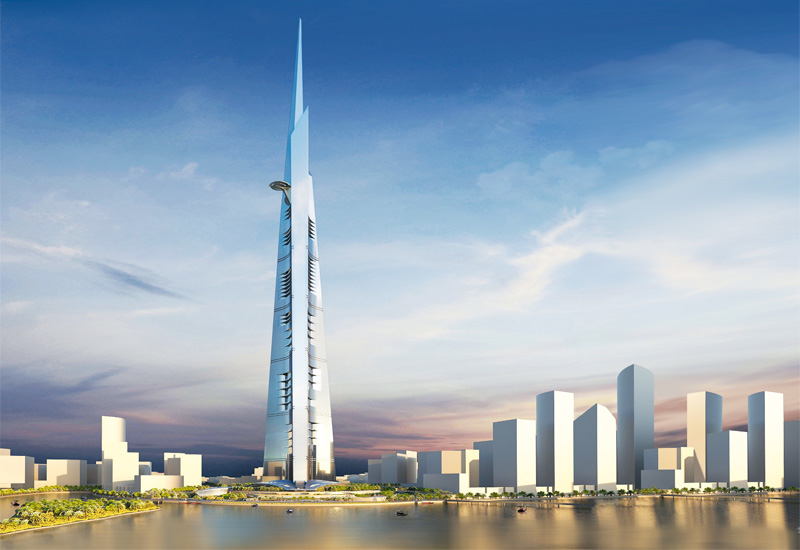 THE KINGDOM TOWER The planned centrepiece of Kingdom City, 20km north of Jeddah, soaring 1,000 metres into the sky.