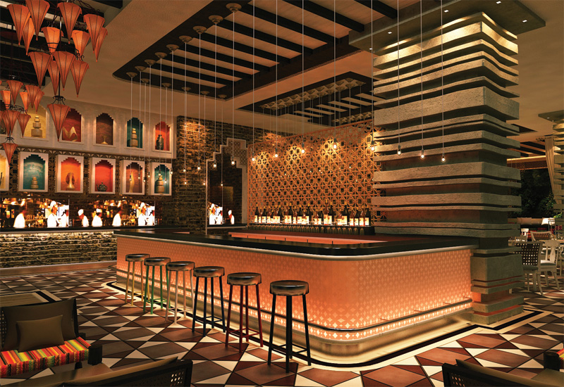 A modern Indian restaurant by MDG.