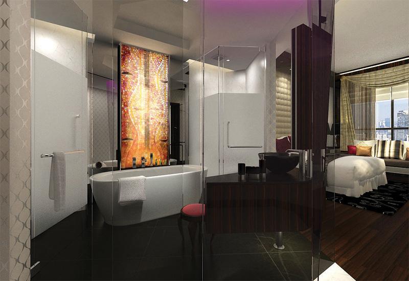 A luxurious bathroom for Sofitel.