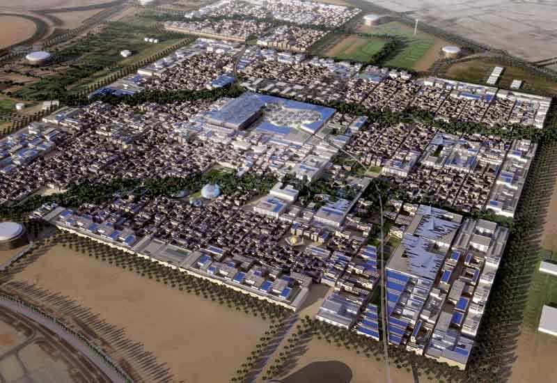 A rendering of Masdar City