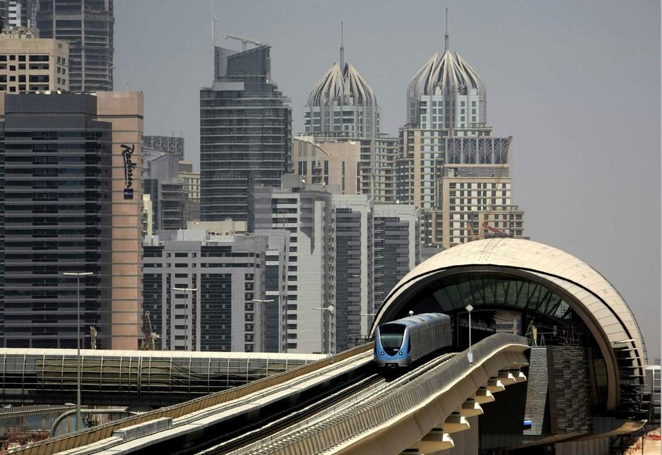 The distinctive Dubai Metro stations fast became a city landmark.