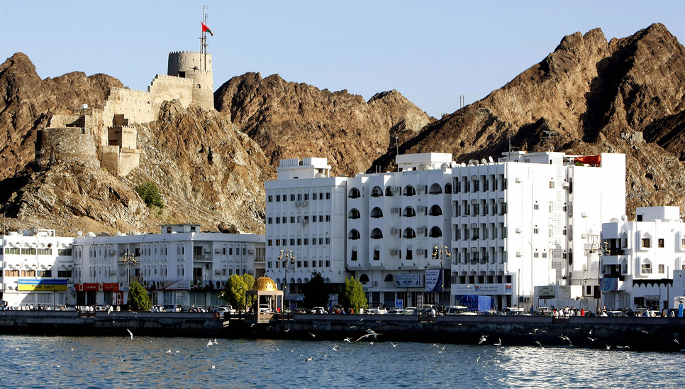 A view of Muscat in Oman. Muscat and Salalah airports are undergoing.