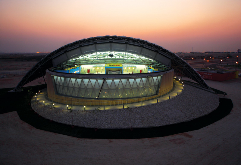 The model stadium was built to prove that Qatar could deal with its hot and humid climate.