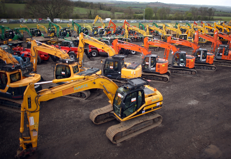 A recent Ritchie Bros auction held in the UK. RB are the largest industrial auctioneers in the world (Reuters).