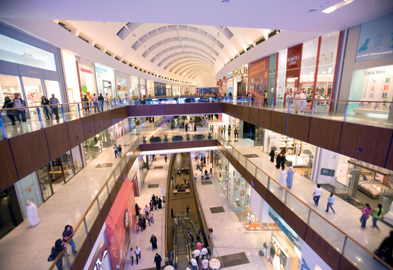The development of shopping malls in the region surged in recent years.