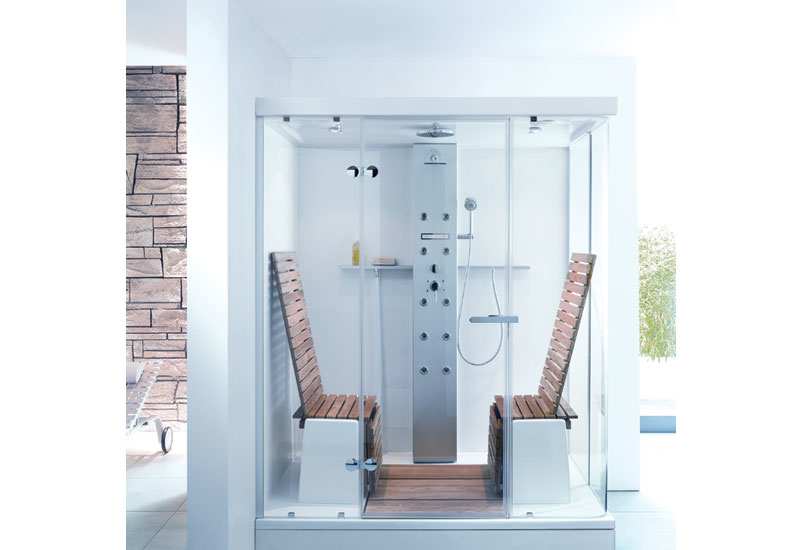 Duravit's multi-functional shower aims to bridge the gap between bathroom and personal spa