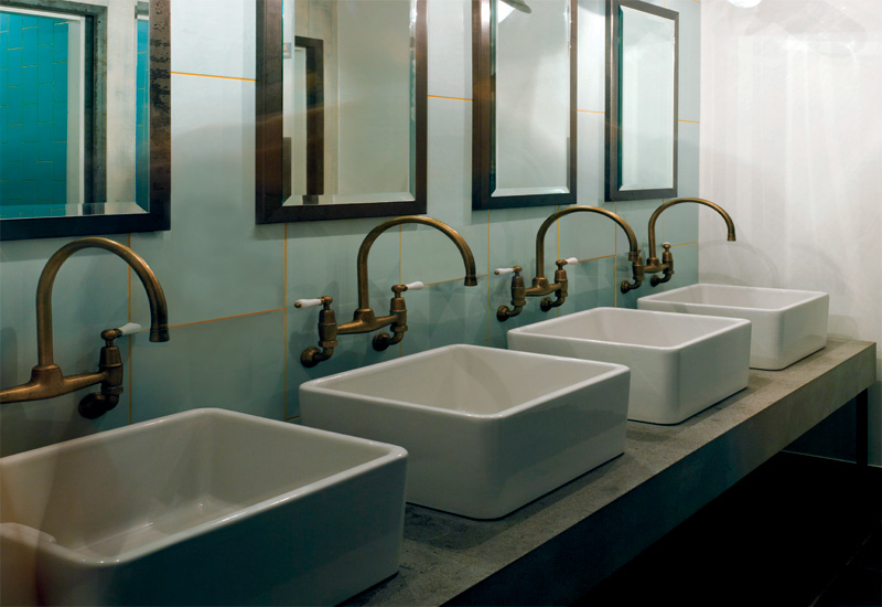 Quirky design features have even made their way into the bathrooms.