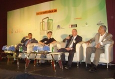Experts debate the isssues at a sustainability event.