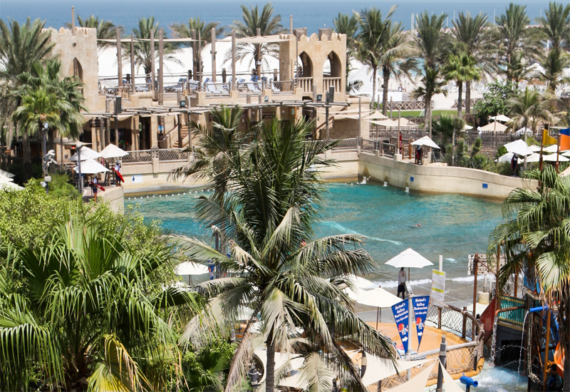 The Wild Wadi theme park was designed to look as if it was sculpted from a natural environment.