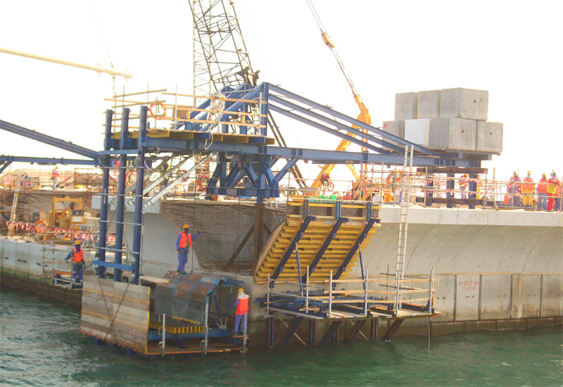 Doka's formwork systems have been used on major projects like the Ras Laffan Port expansion project in Qatar.