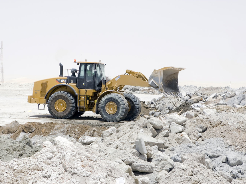 Thiess Al Dhafra R & D construction waste recycling plant