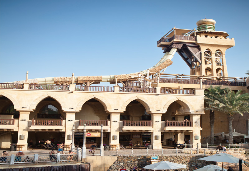 The Jumeirah Sceirah ride which was recently opened in Wild Wadi.