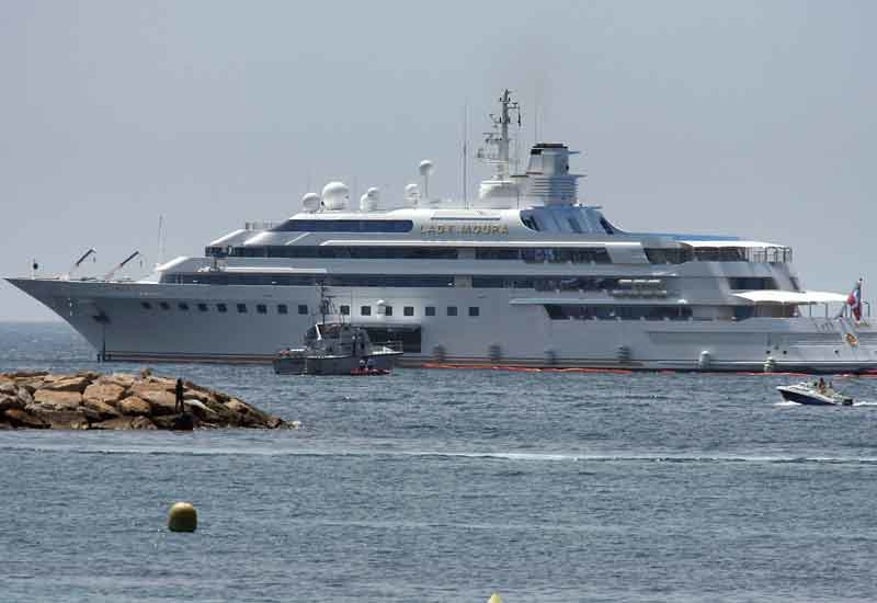 Nasser al Rachid's yacht the 'Lady Moura', one of the world's biggest private yachts (VALERY HACHE/AFP/Getty Images).