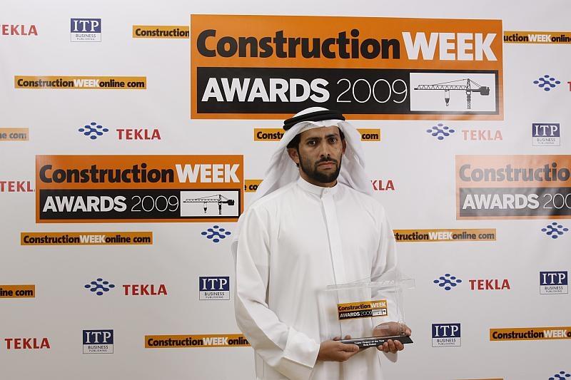 Abdulla M.Bin Lahej, executive director, Dubai project managment, Emaar, collected the award