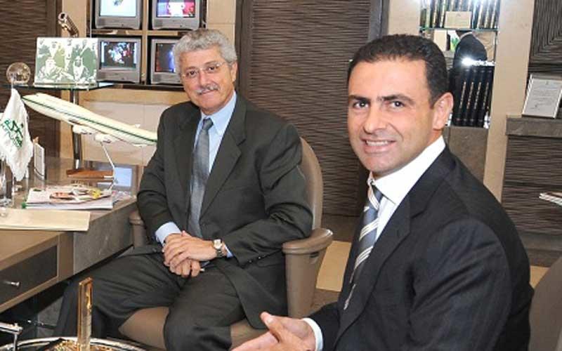 Tabbal (right) with Shadi Sanbar, CFO
