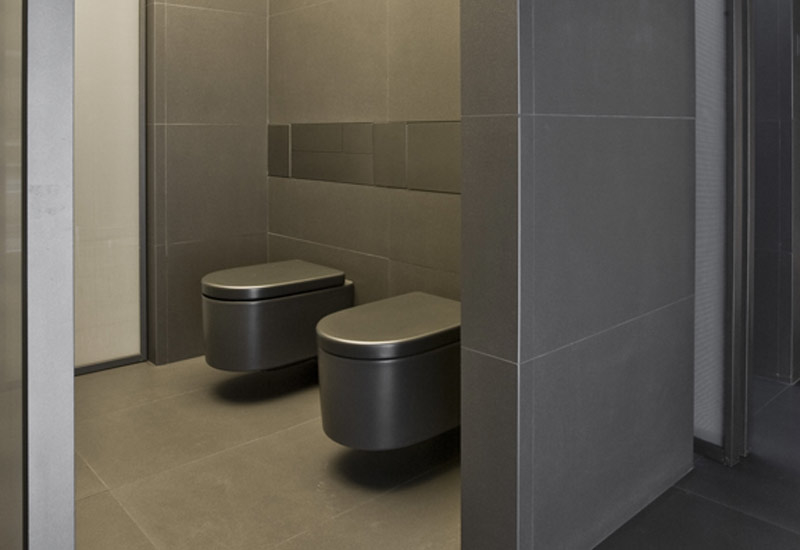 The bathrooms are available in two different colour schemes