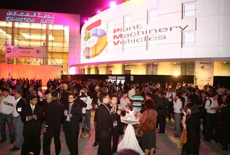 The new plaza area hosted 4,500 exhibitors at the Big 5 party on Monday evening.