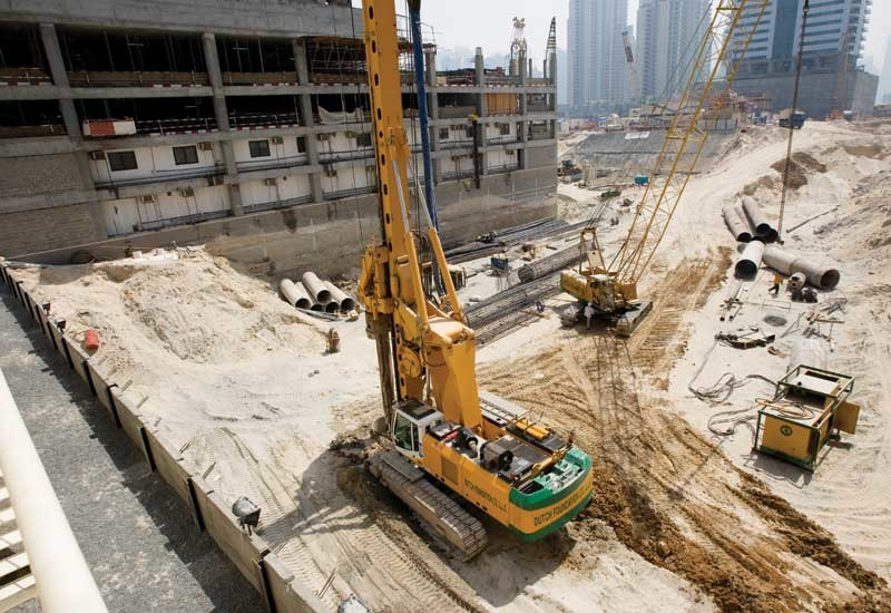 There's an over supply of piling machinery in the UAE market.
