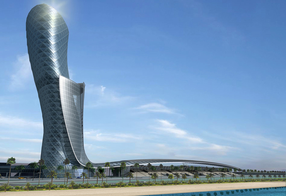Capital Gate in Abu Dhabi, one of the iconic projects Mace has been involved with.