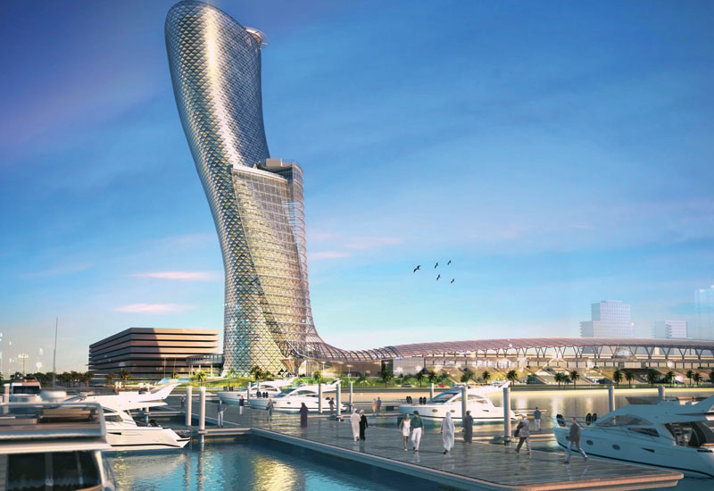 Capital Gate forms the centrepiece of the ADNEC mixed-use development