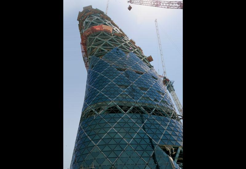 Capital Gate has used 13,200 tonnes of steel