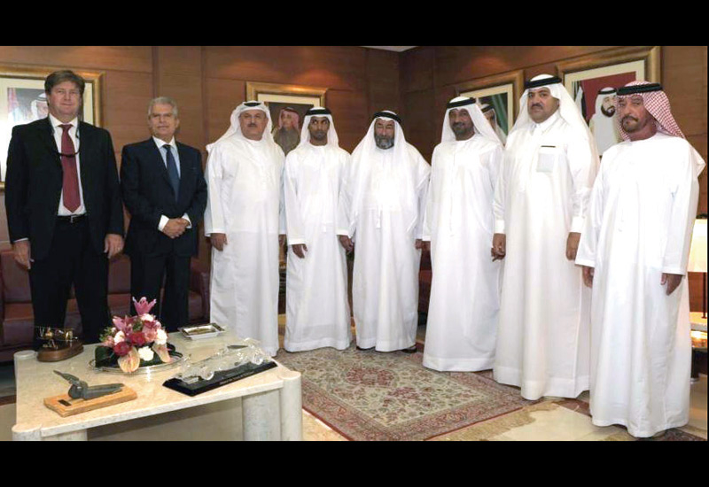 At the signing: His Highness Sheikh Ahmed bin Saeed Al Maktoum, president of the Dubai Civil Aviation Authority and chairman of the Dubai Aviation Cit