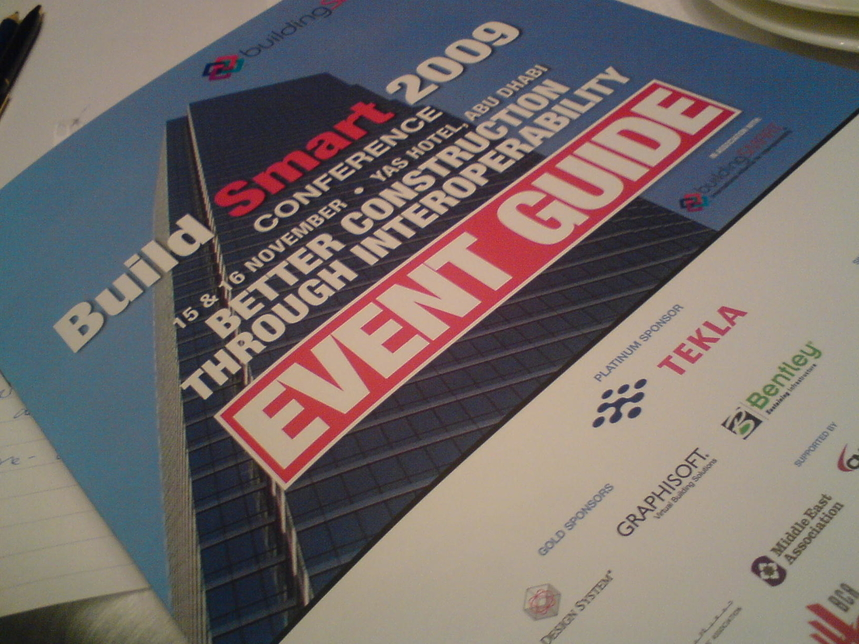 The Build Smart 2009 conference is also running today at Yas Hotel, Abu Dhabi.