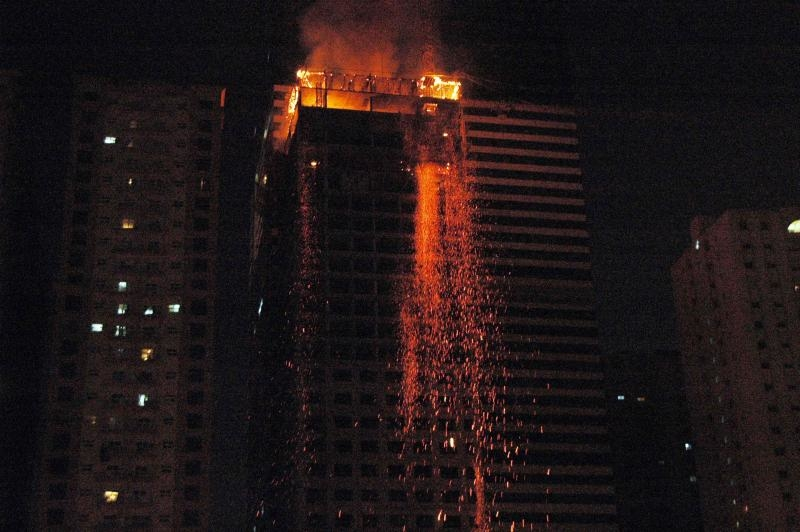 Fire such as that in a high-rise in Sharjah last month have highlighted safety concerns (Image: Snaps India/Mohammed Shamsuddin)