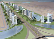 The development will provide a dramatic entrance to Abu Dhabi.