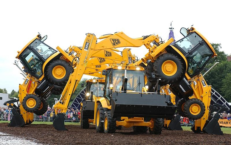 JCB's dancing diggers in action.