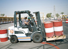 COURSES: The training required throughout the UAE to obtain a grade-7 or 8 licence requires the operator to drive a fork-lift truck.