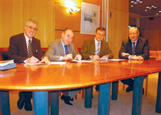 The two companies sign the joint venture agreement to form new company