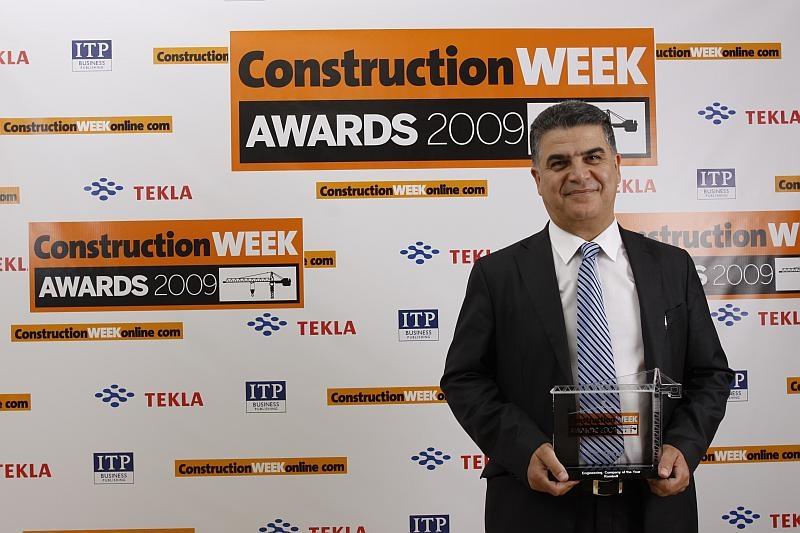 Ramboll managing director Peyman Mohajer collected the award