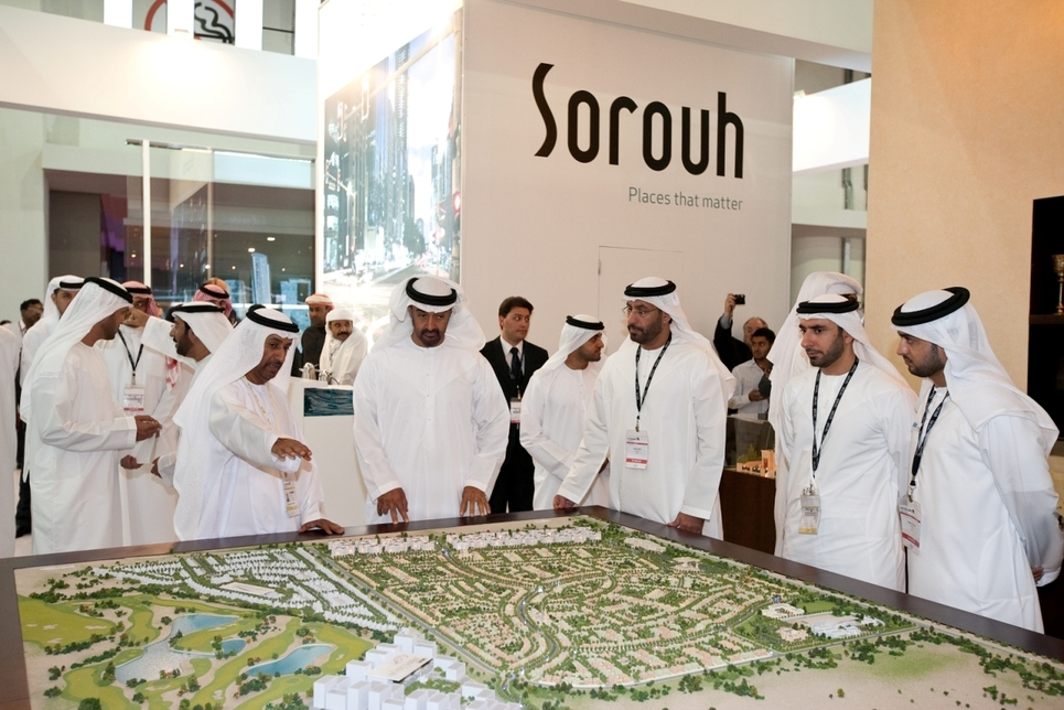 Sheikh Mohammed bin Zayed Al Nahyan, Crown Prince of Abu Dhabi, attended Cityscape on Monday