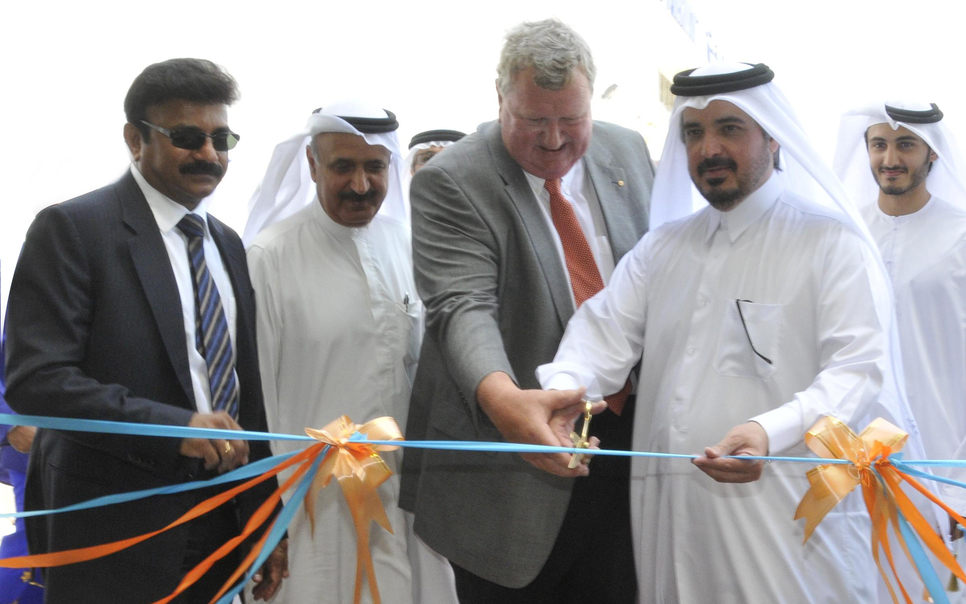 Abdullah Bin Mohammed Al Thani, chairman of Sharjah Aviation and SAIF Zone, officially opened the new facility