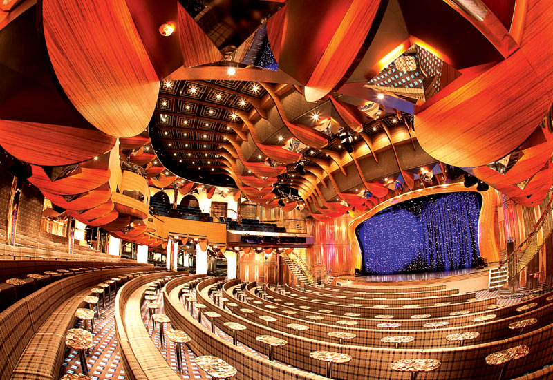 The theatre show lounge covers 1,300m?.