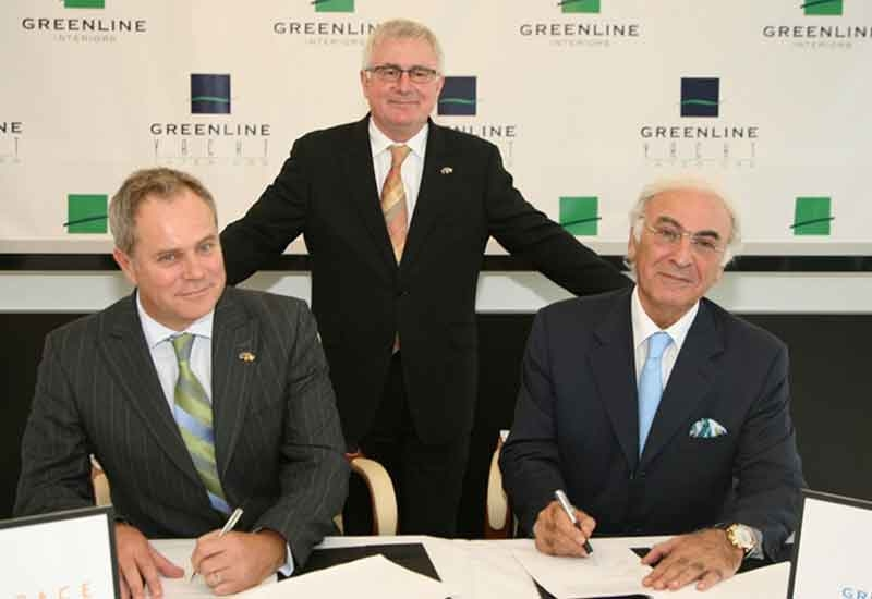 The agreement was signed by Samir Badro, chairman and CEO of Greenline Interiors, and Lance Sheppard, managing director of Aerospace Interiors