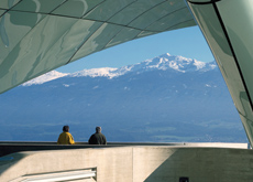 A view of the southern mountain range from Hungerburg Station. (Roland Halbe)