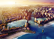 Emaar's Economic City will have a 13km road from its main gate to the Bay La Sun Village.