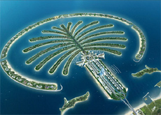 An artist's impression of the Palm Jumeirah.