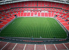 Wembley Stadium has 90,000 covered seats.